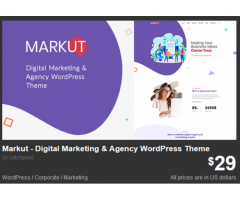 Markut - Digital Marketing & Agency WordPress Theme