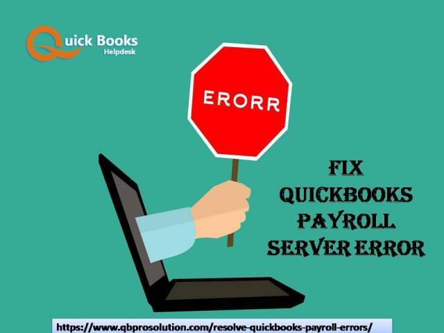 Fix QuickBooks Payroll Server Error