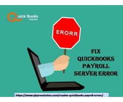 Fix QuickBooks Payroll Server Error