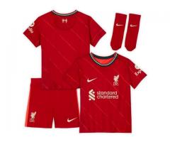 Liverpool 2021-22 rojo ninos camiseta y shorts