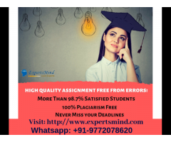 Avail Best and Most Trusted Assignment Help Services!