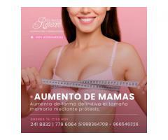 Cirugía de aumento de mamas.