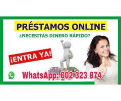 PRÉSTAMOS RÁPIDO Y SEGURO whatsapp : +34 (602 323 874)