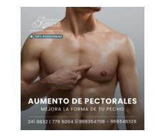 Cirugía de aumento pectoral.
