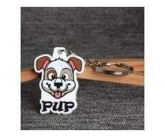 Pup Dog PVC Keychain