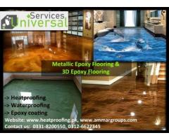 Universal Epoxy Flooring Services in All over Pakistan
