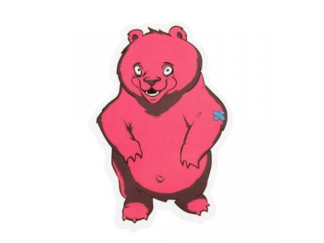 Custom Stickers No Minimum | Pink Bear Custom Stickers | Customsticker.com ™
