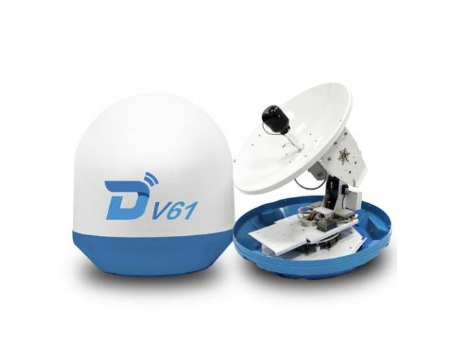 DITEL V61 63cm Ku banda marina antena VSAT 3 ejes