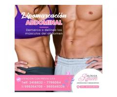 Delinea los musculos del abdomen