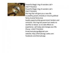 Magic ring for power and win call +256777422022