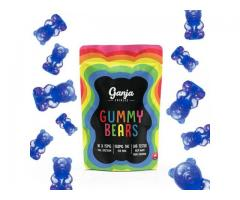 Ganja Edibles – Gummy Bears: Blue Raspberry (THC)