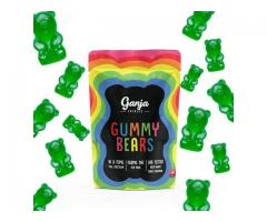 Ganja Edibles – Gummy Bears: Green Apple (THC)