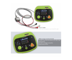 Portable color screen AED defibrillator monitor with ECG biphasic Automated External defibrillator w