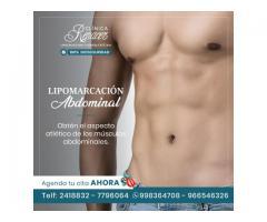 Marca los músculos abdominales.